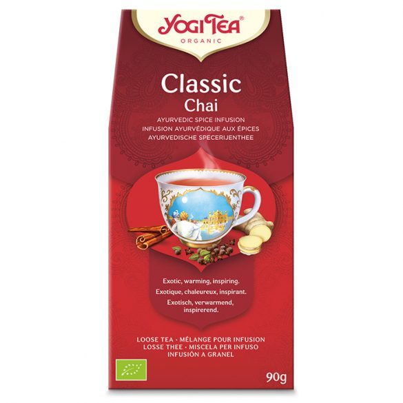 Yogi Tea® Klasszikus szálas chai bio tea 90g