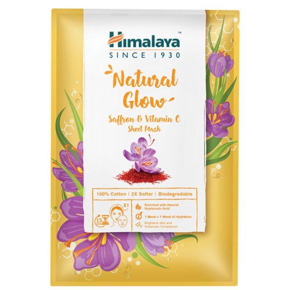 Himalaya Természetes ragyogás textilmaszk sáfránnyal és C-vitaminnal 30ml