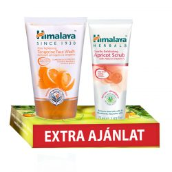 Himalaya Mandarinos pórusösszehúzó arclemosó gél 150ml+Barackos arcradír 75ml