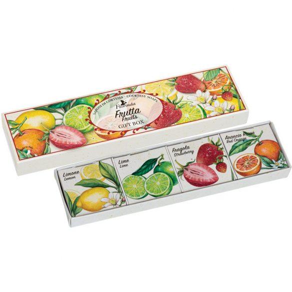 Florinda szett - Vegyes gyümölcs szappan 25g x 4db