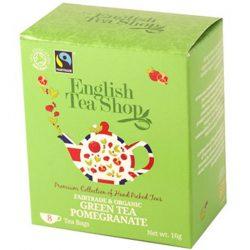 English Tea Shop Bio Zöld tea gránátalma 8 papírfilter