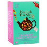 English Tea Shop Áfonyás & Vaniliás csoda bio tea 20 papírfilter