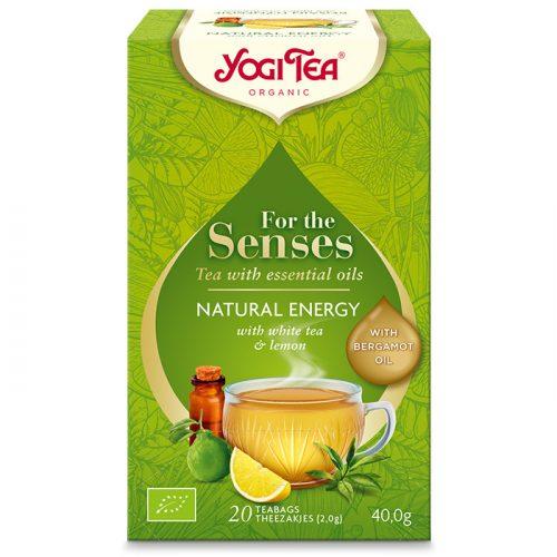 Yogi Tea® Bio tea az érzékeknek - Természetes energia