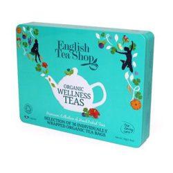 English Tea Shop Wellness ajándék bio tea válogatás Fémdobozos 36 papírfilter
