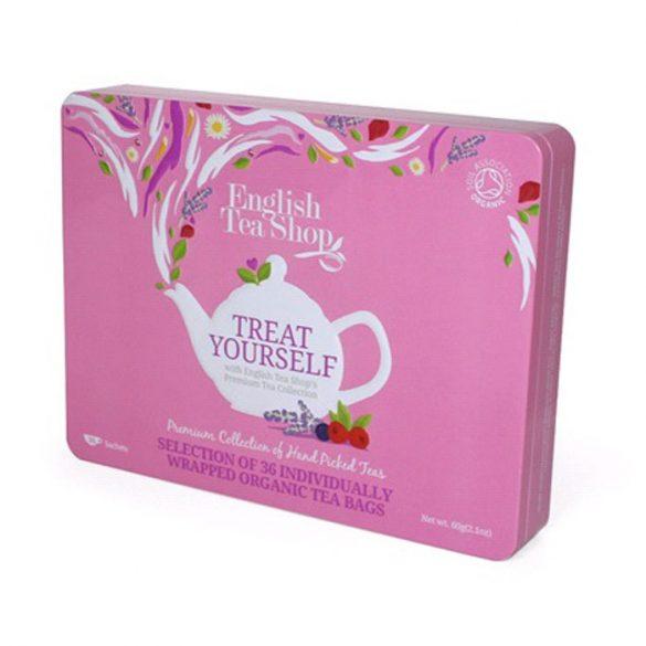 English Tea Shop Szuper gyümölcsös  bio tea válogatás Fémdobozos 36 papírfilter