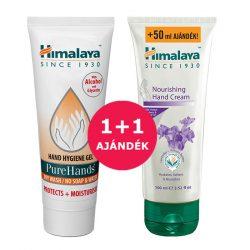 1+1 Himalaya Pure Hands alkoholos kéztisztító gél 100ml + Tápláló kézkrém 100ml