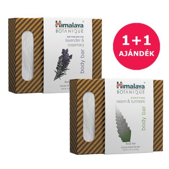 1+1 Himalaya Botanique Növényi szappan nimmel és kurkumával 125g+Növényi  szappan levendulával 125g
