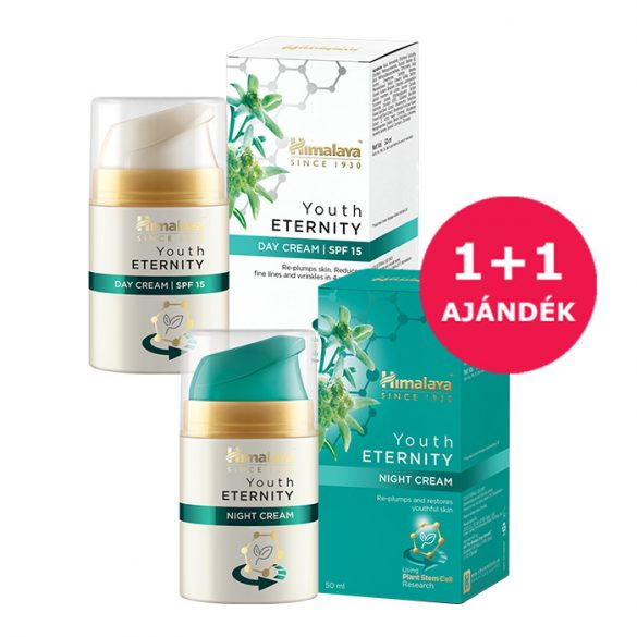 1+1 Himalaya Youth Eternity nappali arckrém SPF15 50ml+Youth Eternity éjszakai arckrém 50ml