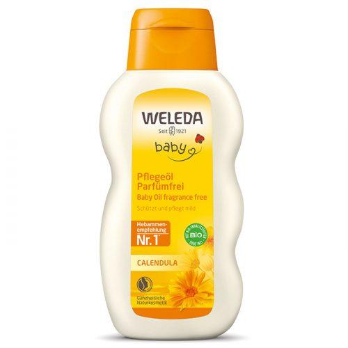 Weleda Bio körömvirágos illatanyagmentes natúr babaápoló olaj 200ml