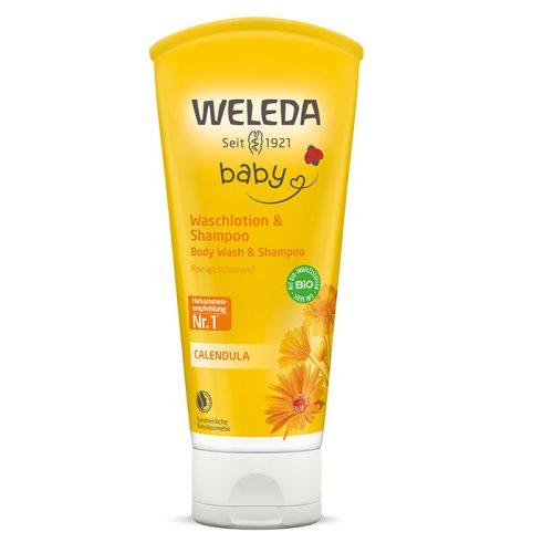 Weleda Bio körömvirágos natúr baba tusfürdő és sampon 200ml (szépséghibás)