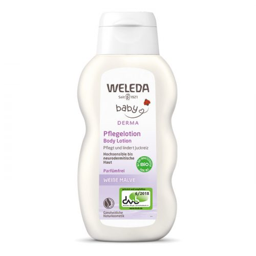 Weleda Bio fehér mályvás natúr baba testápoló érzékeny, ekcémás bőrre 200ml