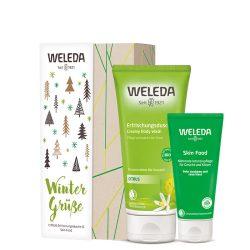 Weleda szett Skin Food bőrápoló krém arcra és testre 75ml + Citrusos frissítő tusfürdő 200ml