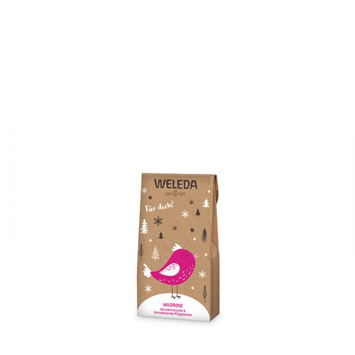 Weleda szett Vadrózsás kényeztető testápoló normál és száraz bőrre 20ml + Vadrózsás tusfürdő 20ml