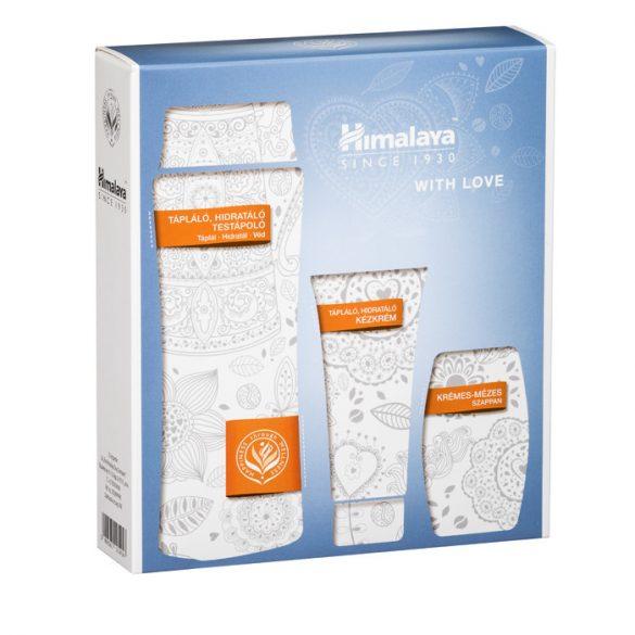 Himalaya Szett Tápláló testápoló 200 ml + Tápláló kézkrém 50ml  + Krémes mézes szappan 75g