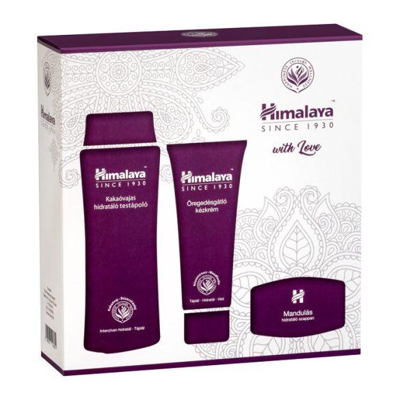 Himalaya Szett Kakaóvajas testápoló 200 ml+Öregedésgátló kézkrém 100 ml+Mandulás szappan 75 g
